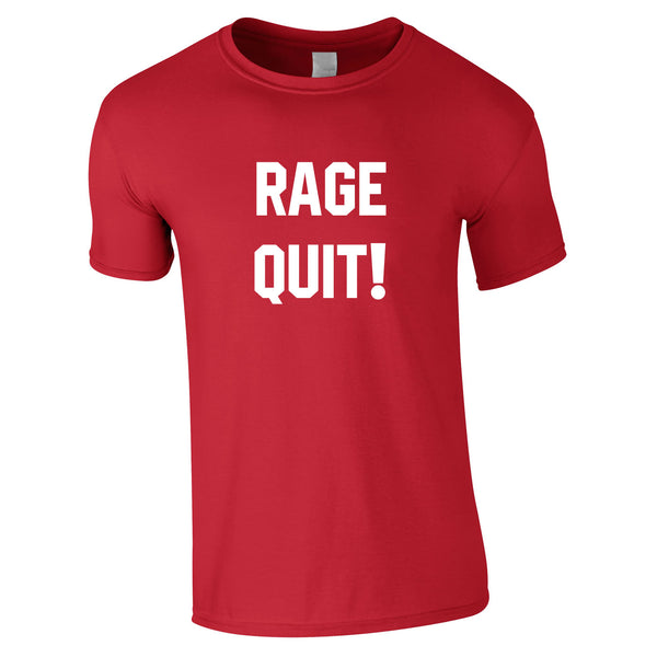 Rage Quit Gaming Tee In Red