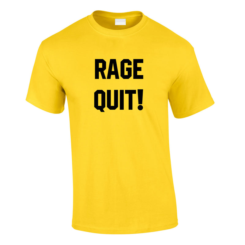 Rage Quit Gaming Tee In Yellow