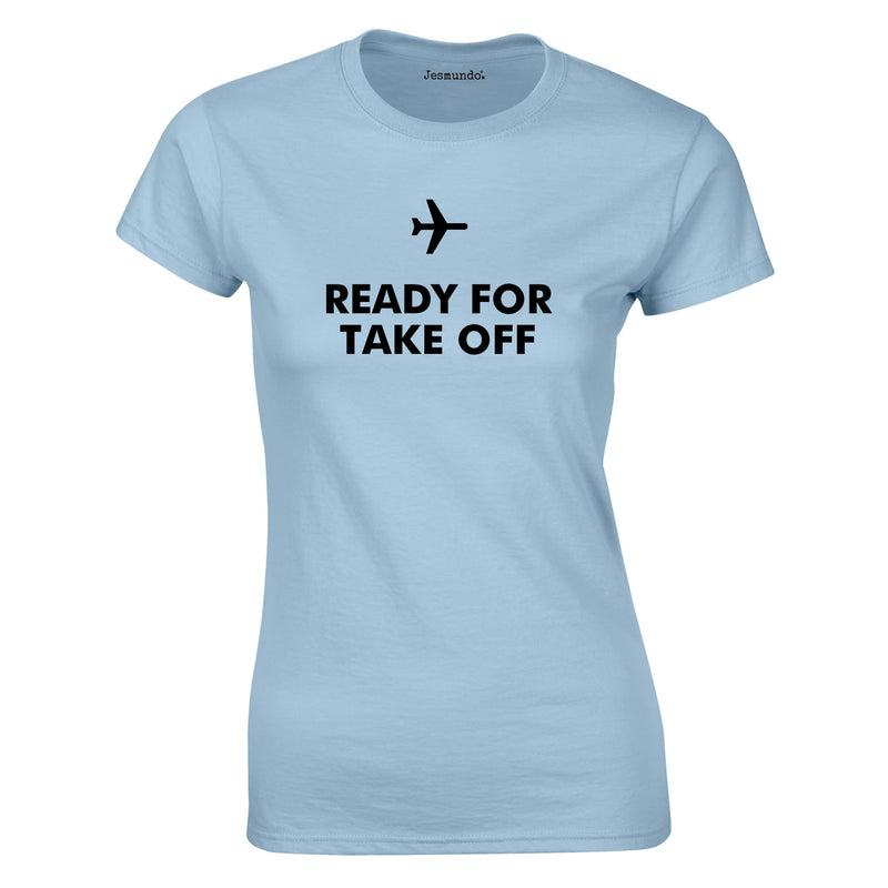 Ready For Take Off Women's Top In Sky
