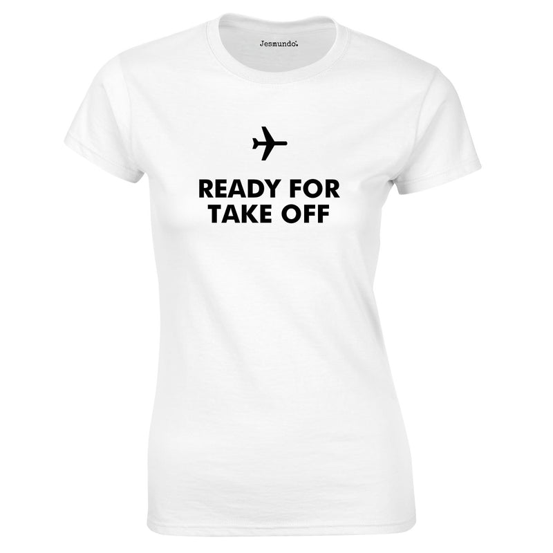 Ready For Take Off Women's Top In White
