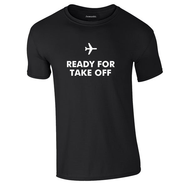 Ready For Take Off Men's Tee In Black