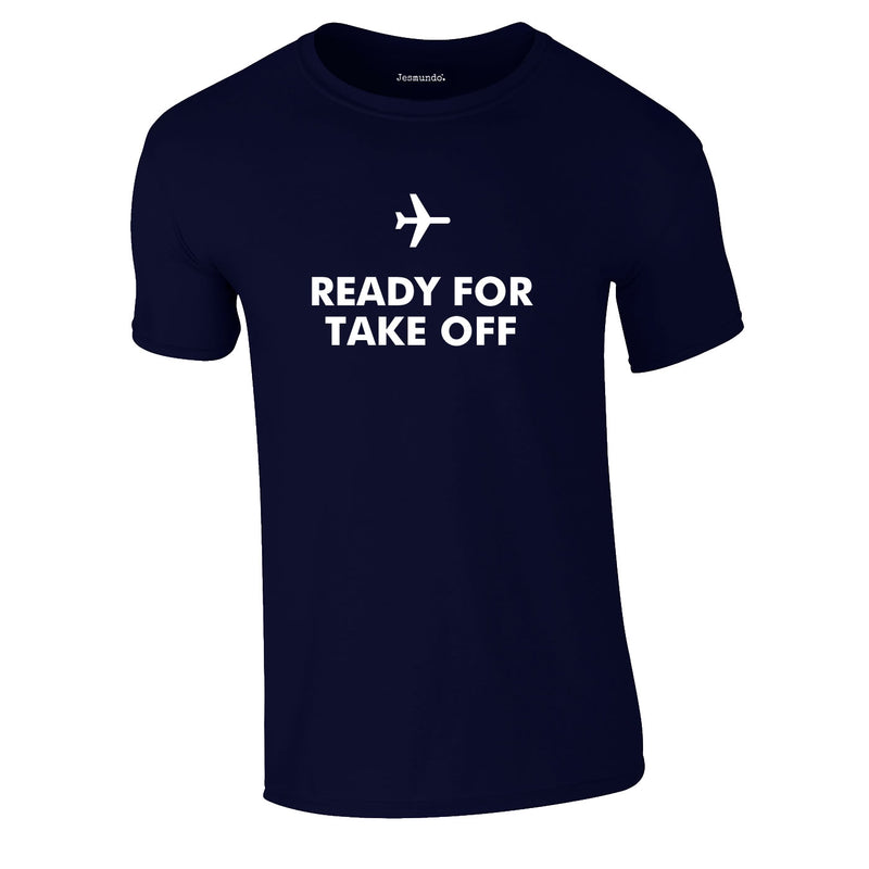 Ready For Take Off Men's Tee In Navy