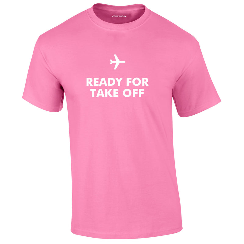 Ready For Take Off Men's Tee In Pink