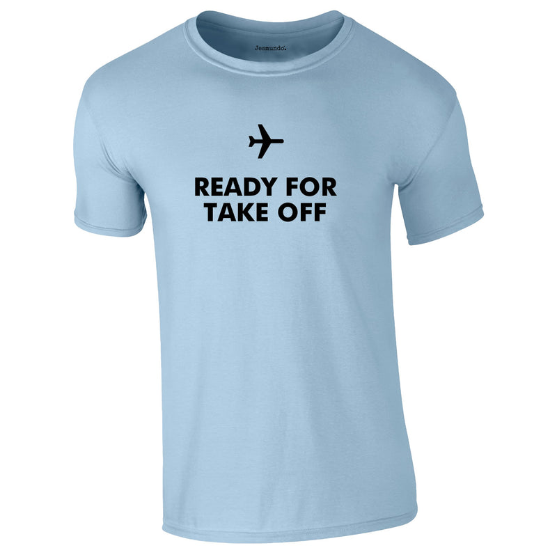 Ready For Take Off Men's Tee In Sky