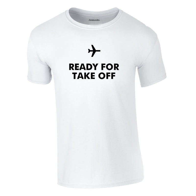 Ready For Take Off Men's Tee In White