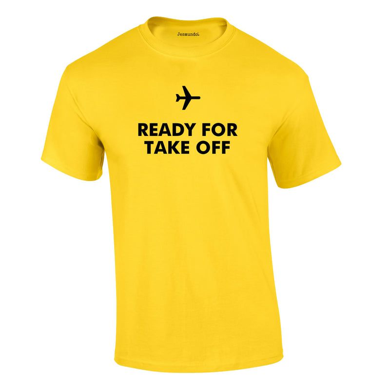Ready For Take Off Men's Tee In Yellow
