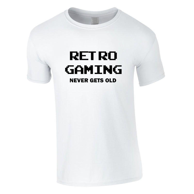 Retro Gaming Never Gets Old Tee In White