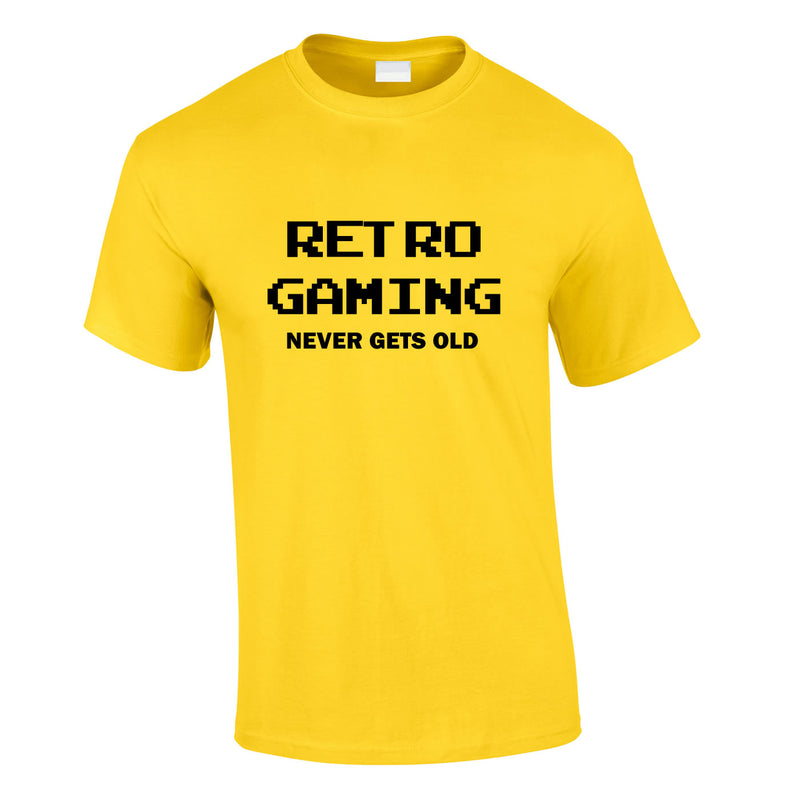 Retro Gaming Never Gets Old Tee In Yellow