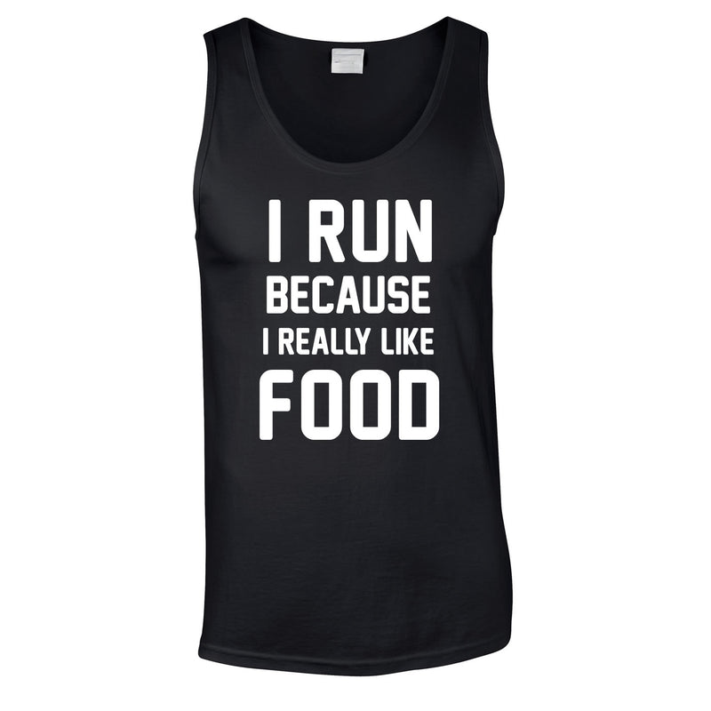 I Run Because I Like Food Vest In Black