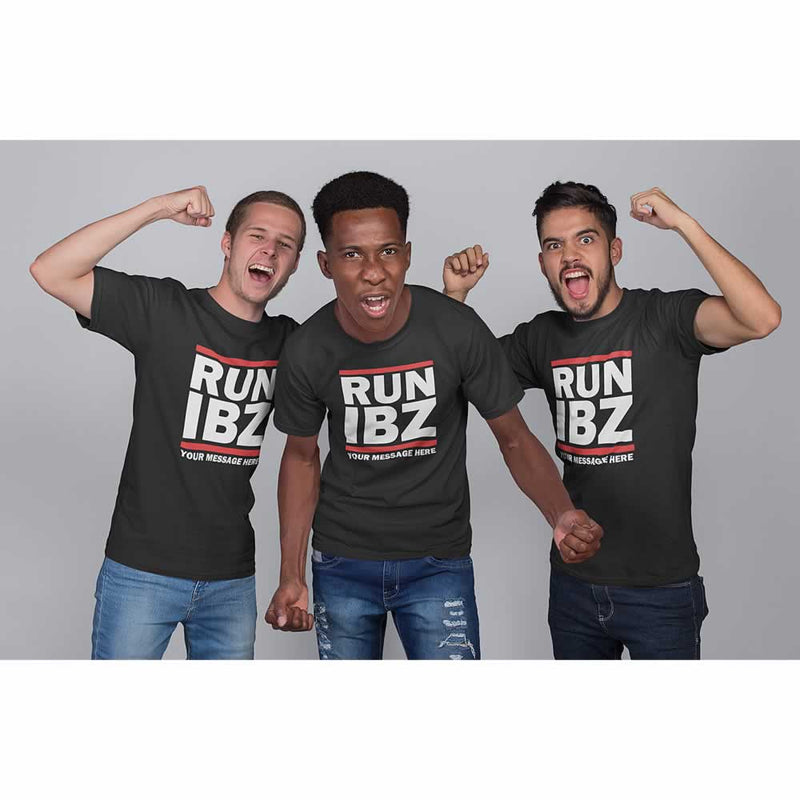 RUN IBZ Ibiza Lads Holiday T-Shirts