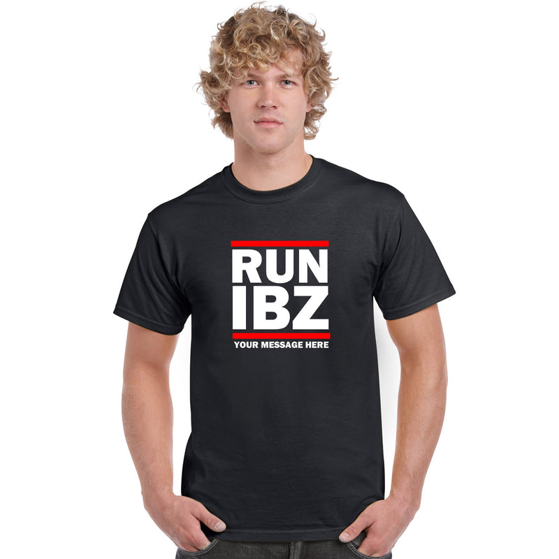 Run IBZ Lads Holiday Custom Printed T Shirts