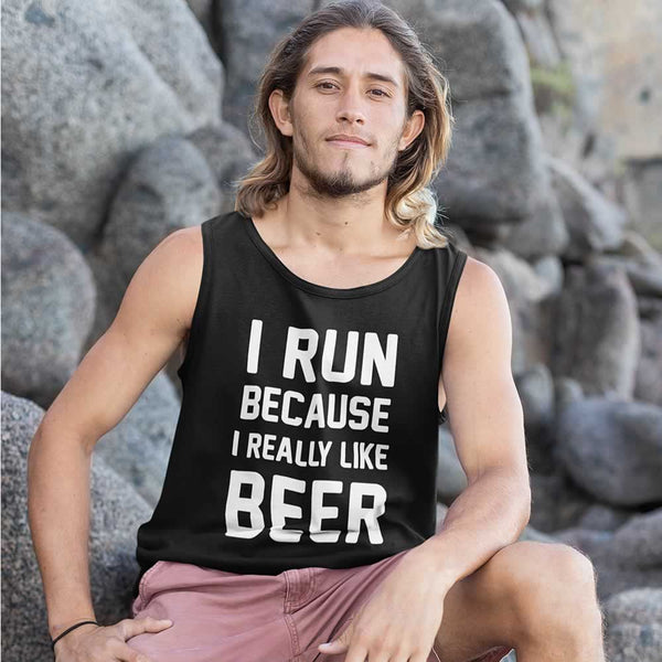 I Run Because I Like Beer Men's Vest