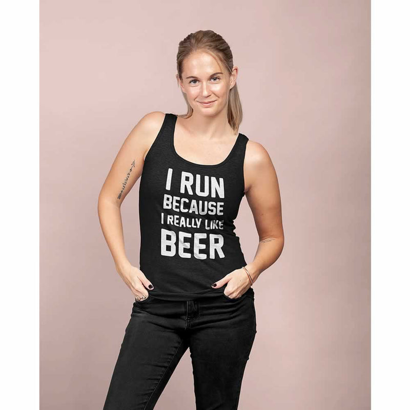 I Run Because I Like Beer Women's Vest