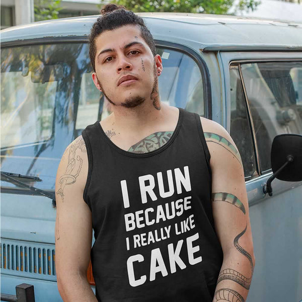 I Run Because I Like Cake Men's Vest