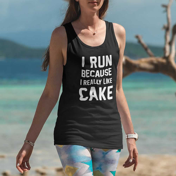 I Run Because I Like Cake Women's Vest