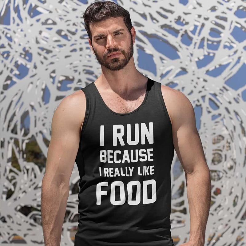 I Run Because I Really Like Food Men's Vest
