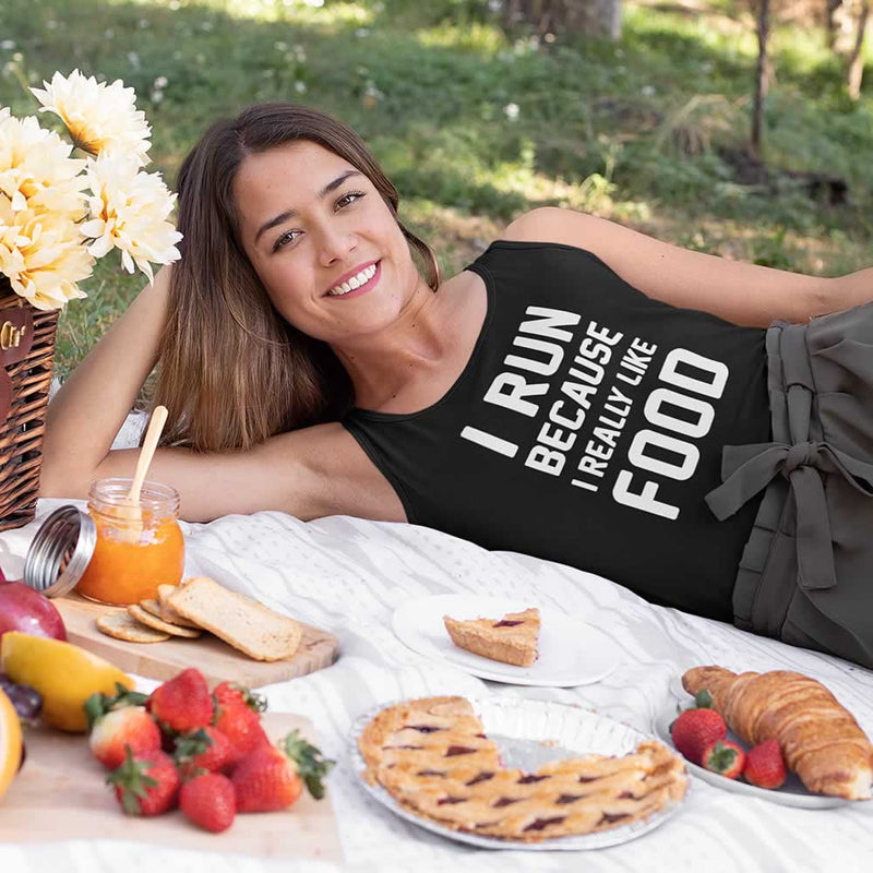 I Run Because I Really Like Food Women's Vest