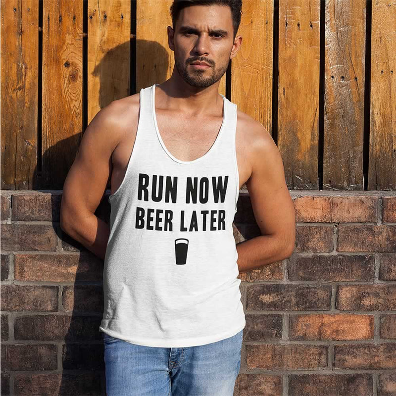 Run Now Beer Later Vest Top For Men