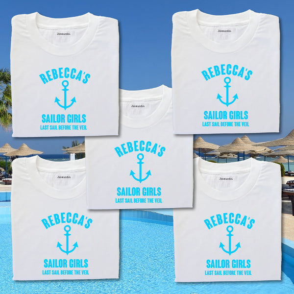 Sailor Theme Hen Party T Shirts Personalised