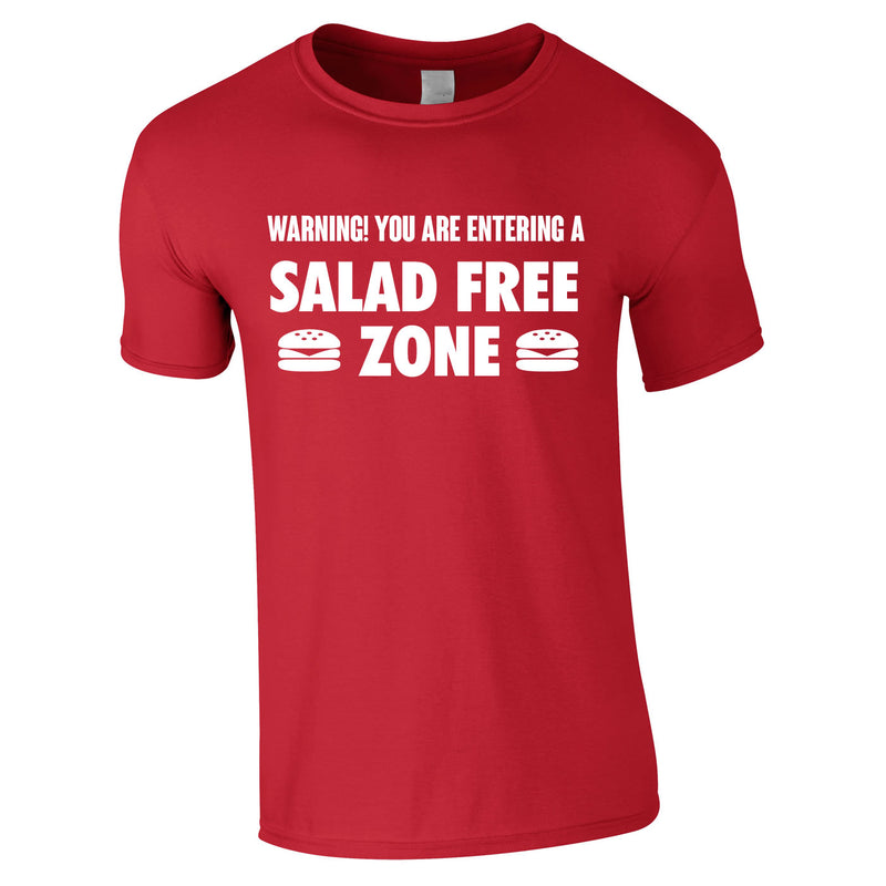 Salad Free Zone Tee In Red