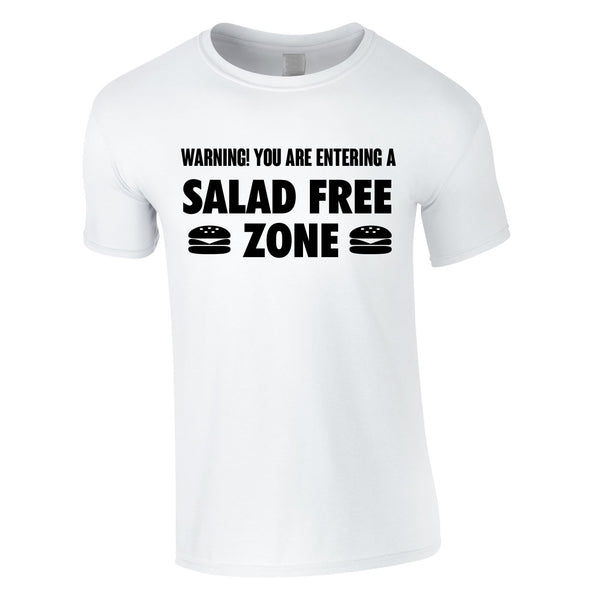 Salad Free Zone Tee In White