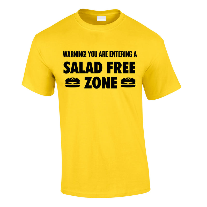 Salad Free Zone Tee In Yellow