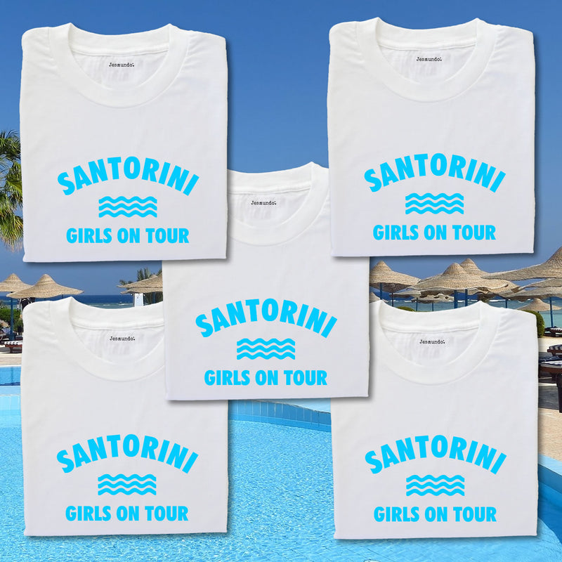 Girls on tour holiday t shirts