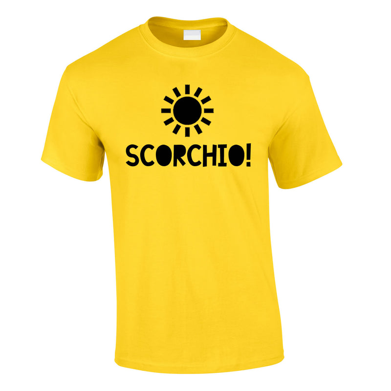 Scorchio Funny Tee In Yellow