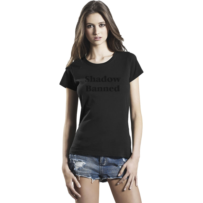 Women's Shadow Banned T Shirt Social Media