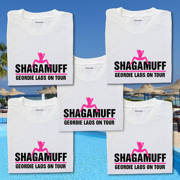 Shagamuff Lads Holiday T Shirts For Magaluf