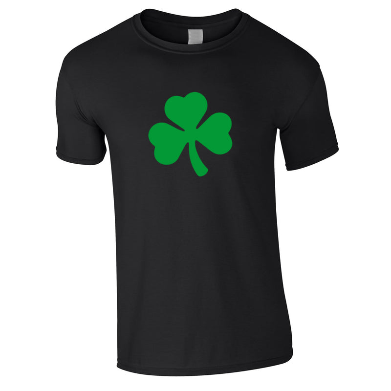 Shamrock Graphic Tee In Black