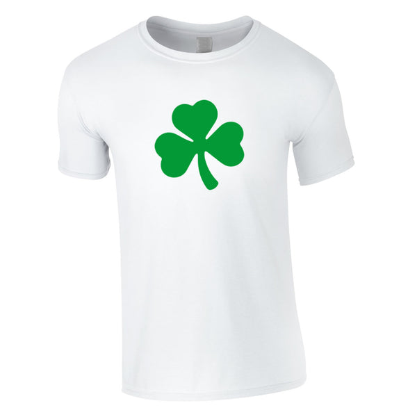 Shamrock Graphic Tee In White