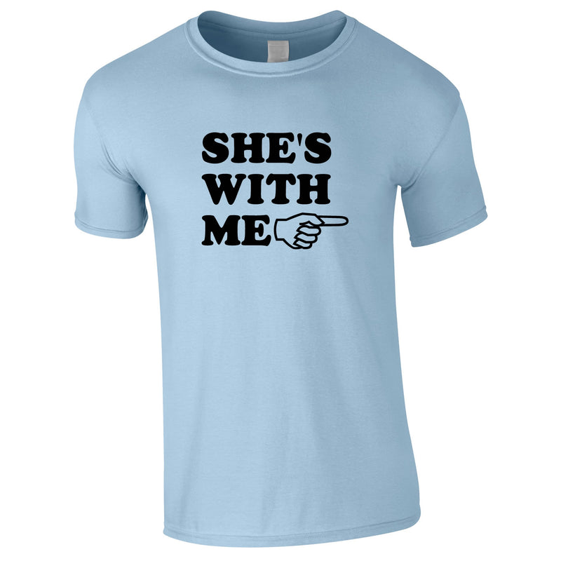 She's With Me Tee In Sky