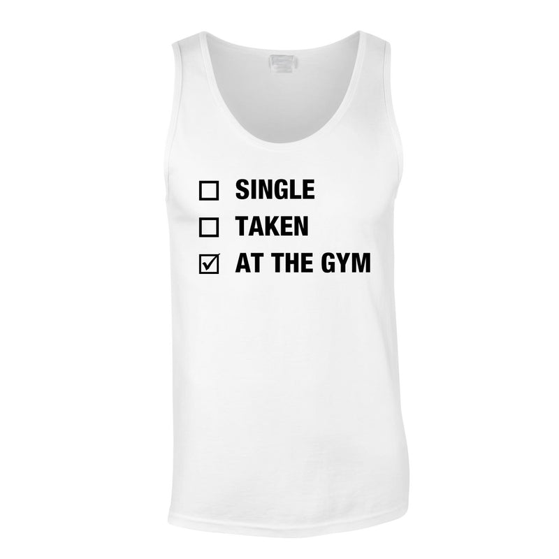 Single Taken At The Gym Vest In White
