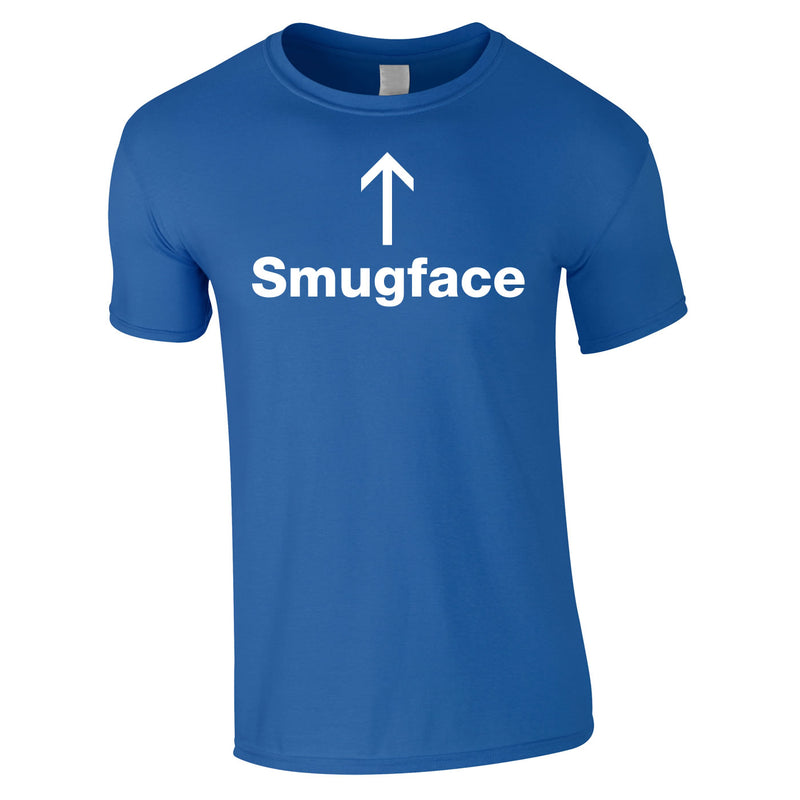 Smugface Tee In Royal