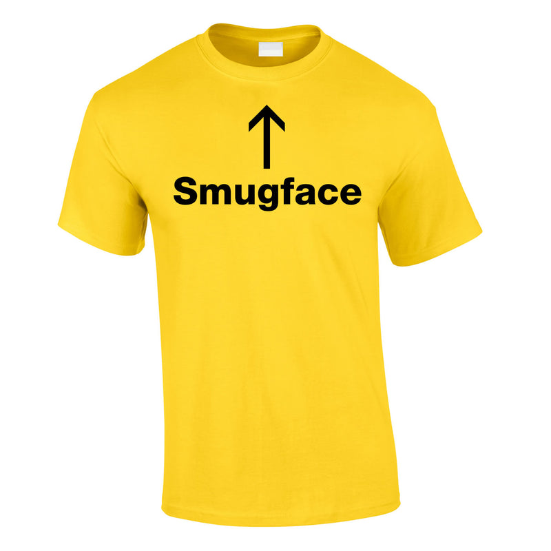 Smugface Tee In Yellow