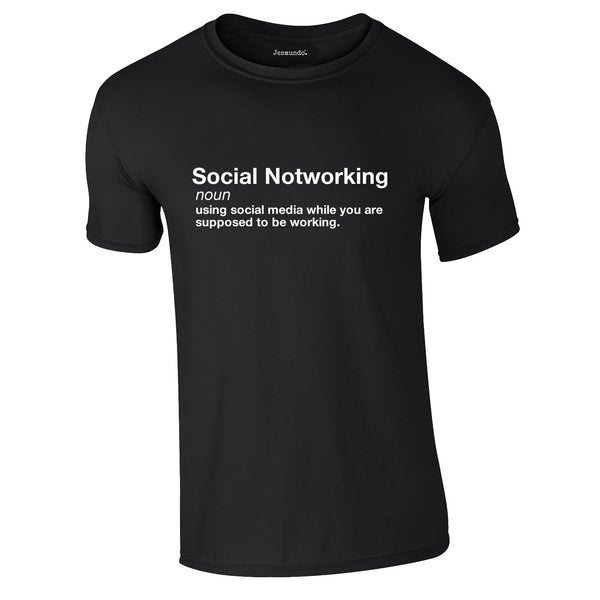 Social Notworking Tee In Black
