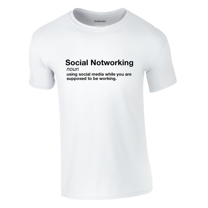 Social Notworking Tee In White