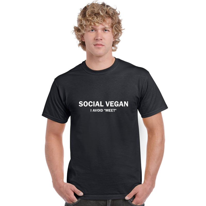 Social Vegan I Avoid Meet Men's T Shirt