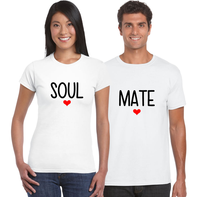 Soul Mates Couples T Shirts