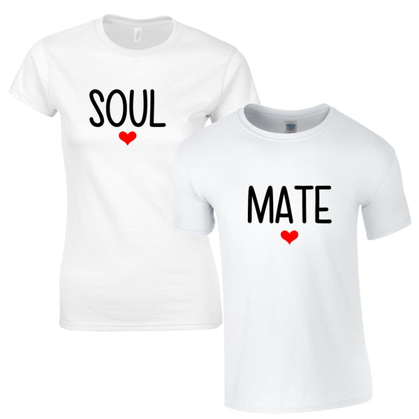 SALE - Soul Mate Couples Tee In White