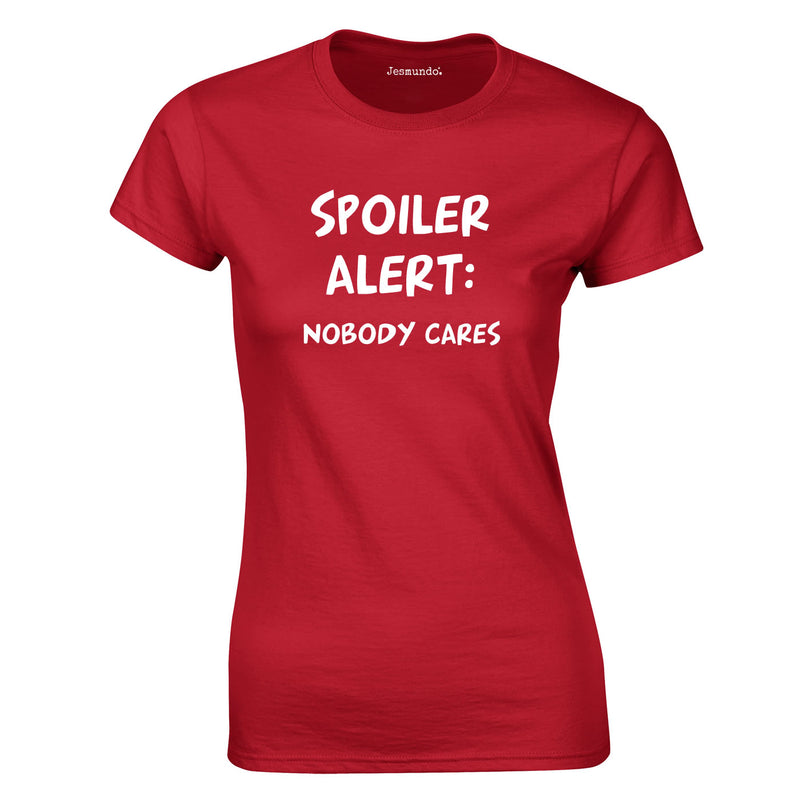 Spoiler Alert Ladies Top In Red
