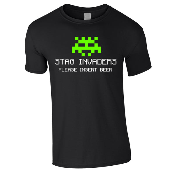 Stag Invaders Geek Stag Do T Shirts