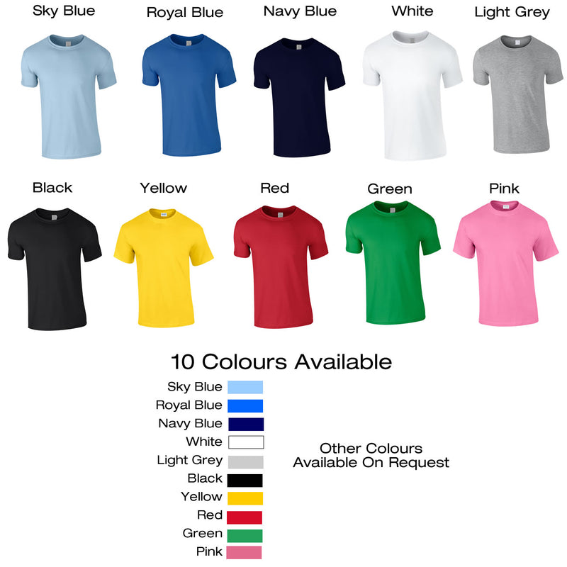 Different Colours Of Unisex T Shirts Available