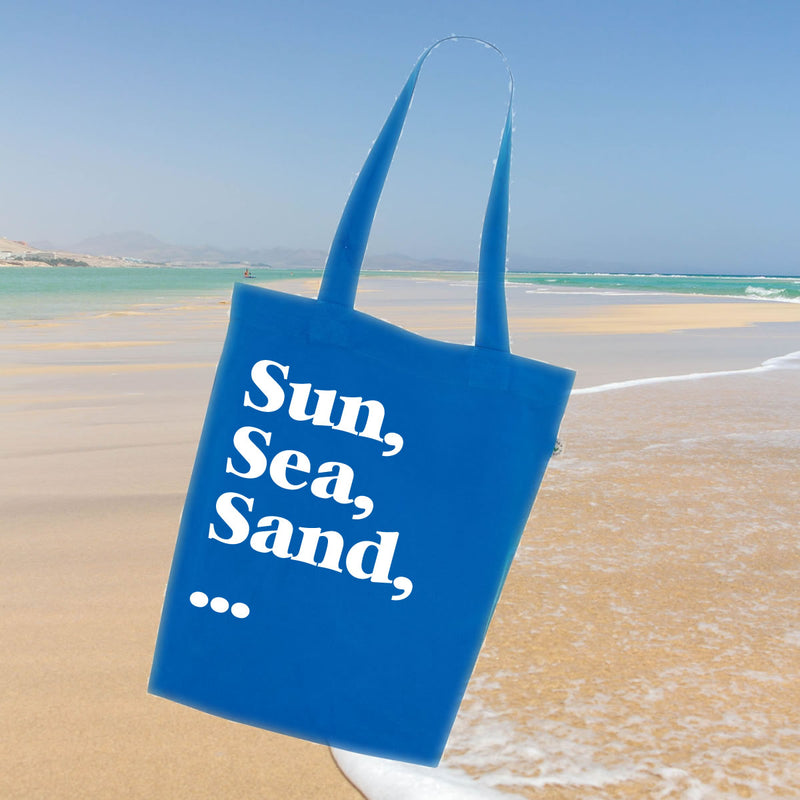 Sun, Sea, Sand Beach Tote Bag