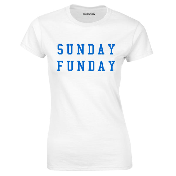 SALE - Sunday Funday Womens Tee White