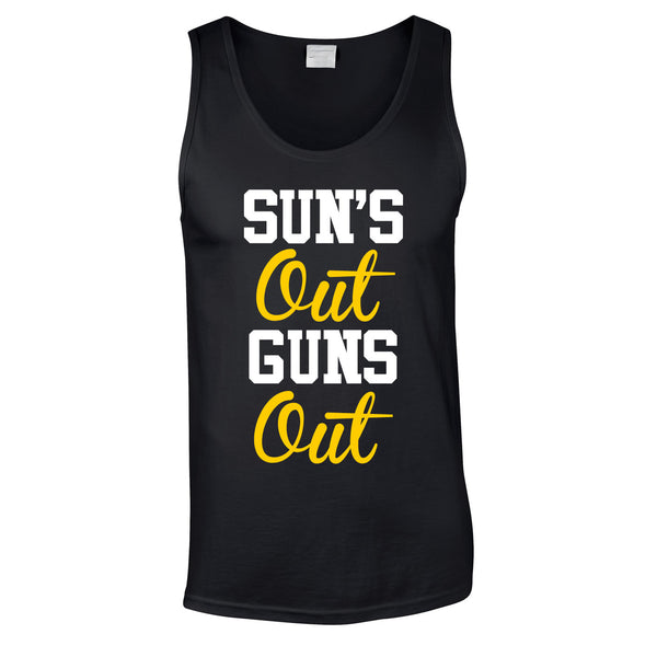 Sun's Out Guns Out Vest In Black