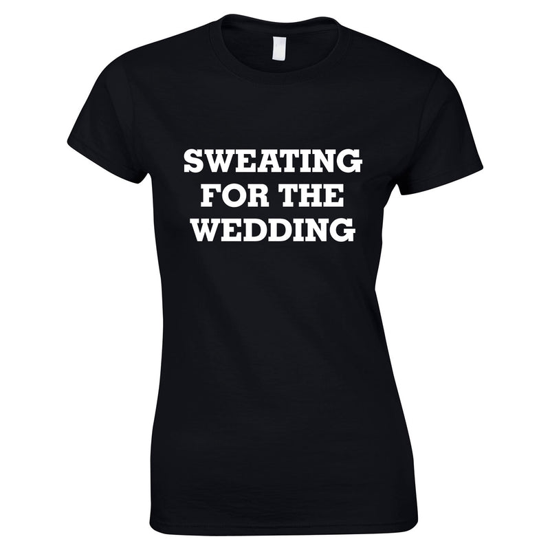 Sweating For The Wedding Top In Black