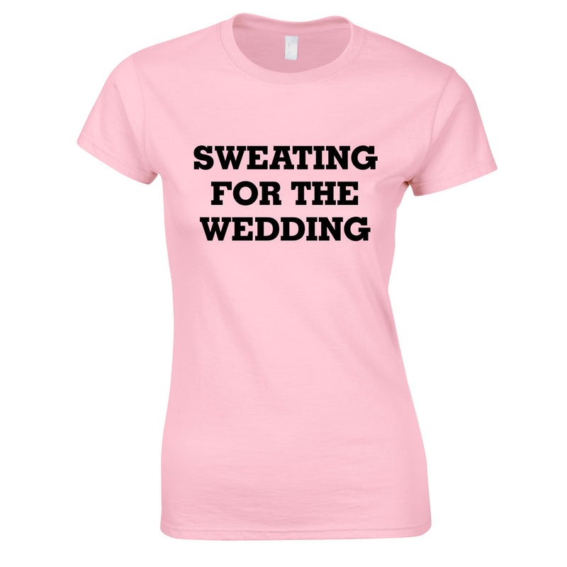 Sweating For The Wedding Top In Pink