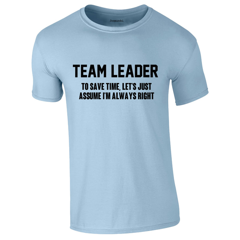 Team Leader Men's Tee In Sky